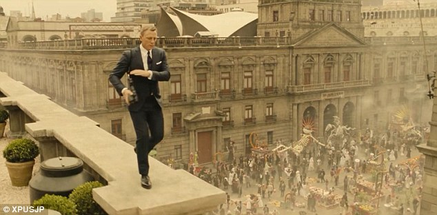 Daniel Craig as James Bond in Mexico City