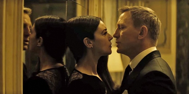 Monica Bellucci as Lucia and Daniel Craig as James Bond