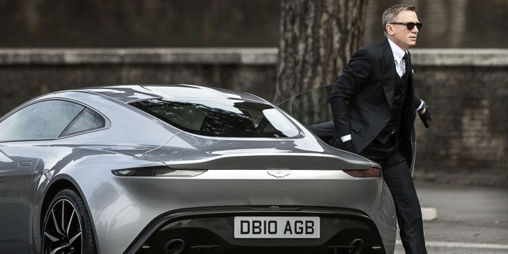 Daniel Craig as James Bond with the glorious Aston Martin DB10